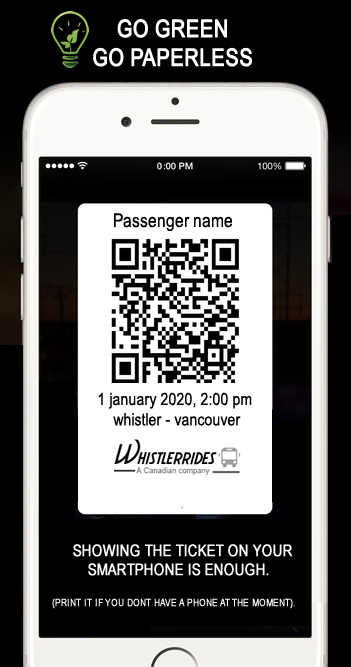 whistler rides paperless tickets on your bus to whistler