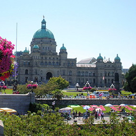 Victoria downtown city view picture